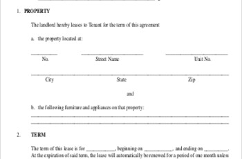 FREE 9 Sample Generic Lease Agreement Templates In MS