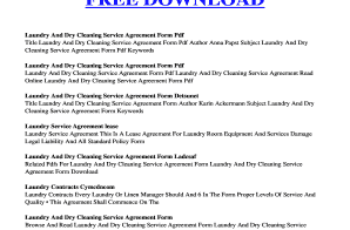 Printable House Cleaning Contract Template Edit Fill