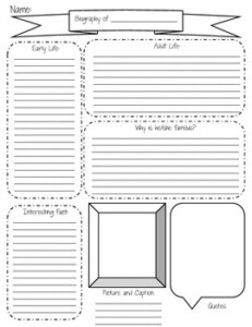 Biography Graphic Organizer Created For 2014 15 ReadyGen