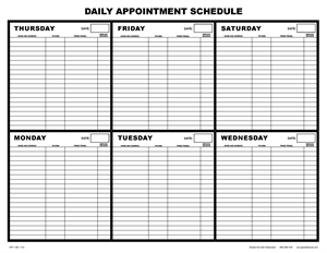 APP 1 Daily Appointment Schedule
