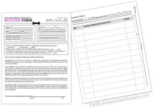 Grooming Release Form Template Printable PDF Dog