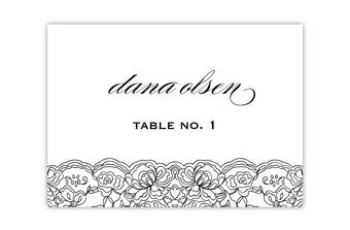 INSTANT Digital Download 3 5 X 2 5 folded Place Card