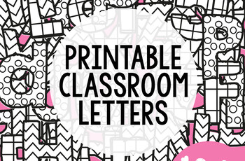 Bulletin Board Letters Classroom Decor By From The Pond