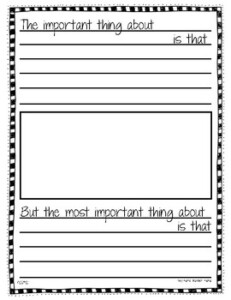 The Important Book FREE Template By Boy Mama Teacher Mama